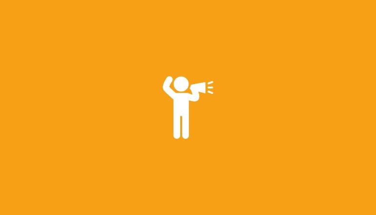 Icon Megafon für Reden